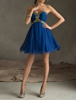 best fine arts - Chic Sweetheart With Colorful Rhinestones A Line Cheap Dark Blue Homecoming Dresses Best Selling Fine Workmanship At Price