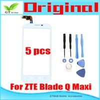 Cheap 5pcs lot Good testing Original Touch screen For ZTE Blade Q Maxi Touch Screen Digitizer White free shipping