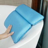 Wholesale Bathtub bathroom cylinder bath pillow belt sucker bathtub pillow memory pillow waterproof pad Large