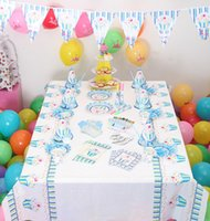 Wholesale Party Decoration Kids Birthday Prince theme Straw Plates Gift Bags Tablecloth Party Supplies For Birthday PZ0019