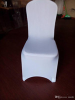 Wholesale 2015 pc White High Quality Polyester Wedding Chair Covers