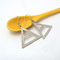 Charm american mars - New fashion Jewelry Silver Plated Seconds to Mars Triangle Jewelry EARRING Women Jewelry Movie Jewelry