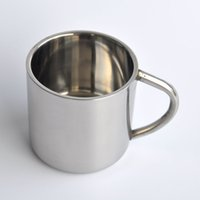 Wholesale High quality stainless steel insulated coffee cup stainless steel double insulation refined coffee mugs C031A