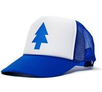 Wholesale Dippers Blue Pine Tree Unisex Adult Trucker Hat One Size Royal White fashion hat summer cap