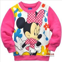 add t shirts - Fall new children s clothing cartoon add wool long sleeve T shirt coat of the girls
