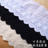 Wholesale 5Yards Width cm Off White100 cotton embroidered lace fabrics Women s clothing diy lace trim RS321
