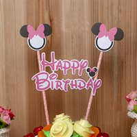 Wholesale Cartoon Cake Flags Accessories Party Decoration Sets Baked Material Baked Cute Accessories