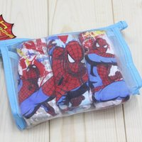 children in underwear - 2015 NEW child cotton underwear kid s cartoon spider man panties boy spiderman shorts designs ps in retail bag C144
