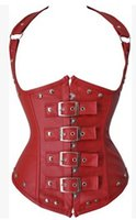 america corset - Tops Womens Hot Selling Europe and America Sexy Corset Leather Stage Clothing Underbust Corset Top