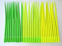 plastic ball pen - novelty rollerball pen leaf bal pen Grass blade pen leaf Ball point pen beautiful decals for your table South Korean creative stationery