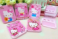 Wholesale Hello Kitty Mirror with comb Pocket Makeup Mirror Cartoon Cosmetic Mirror by DHL Fedex