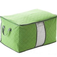 Wholesale Storage Box Portable Foldable Clothing Organizer Non Woven Clothing Storage Box for Blanket Pillow Underbed Bedding Storage Bags