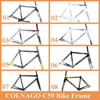 Wholesale Colnago C59 Road Bicycle Frame Full Carbon Fibre High Quality Bicycle Parts Size S S S S Black White Red Color CYcling Bike Frames