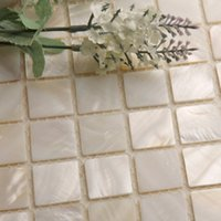 Wholesale GM13 Quality eco friendly natural shell mosaic tv background wall tile wall stickers