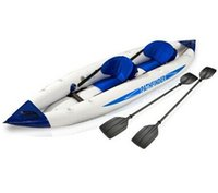 kayak - 2 person pathfinder canoe inflatable boat sport kayak cm include seat foot pump paddle carry bag