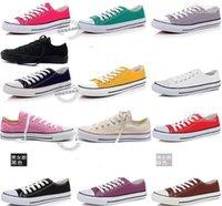 Wholesale CLASSIC Unisex canvas shoes Men Women Low Top High Sport Shoes canvas shoes