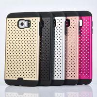 aluminum metal mesh - For Iphone S Plus I5 S S Samsung Galaxy S6 G9200 Edge G925 Plus G9280 Note5 Hybrid Grid Mesh Net Metal Hard Case Aluminum Soft TPU