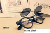 Wholesale Hot Steampunk Goth Goggles Glasses Retro Flip Up Round Sunglasses Vintage