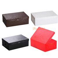 Wholesale 1PC New Plastic Carved Flowers Shoebox Thicken Shoe Storage Case Flip Organizer Box