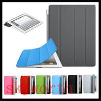 achat en gros de pu case-Smart Case Cover pour Ipad pro 9.7 air2 mini4 air 2 3 4 5 mini-rétine Support magnétique sommeil réveil en cuir PU