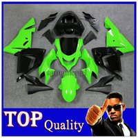 Wholesale ZX R ZX10 R ABS Plastic Bodywork Set green black ABS Fairings Kit W12 Fit For Kawasaki ZX10R ZX R E27