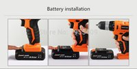 Wholesale 21V lithium battery rechargeable cordless electric screwdriver Hammer Percussion mini electric charging drill bit power tools