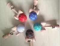 wood dragon - Dragon Skin Kendama paint Kendama Japanese professional Wood Game Kids Toy Made of Beech CM