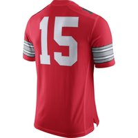 Wholesale 2014 College Football Playoffs Jerseys Red Jersey Ohio State Size S XXL Stitched Hot American Football Jerseys