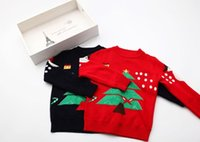 Wholesale Children Christmas Jumper Cotton - 2015 -2016 Baby Girls Christmas Sweaters Kids Girl Knitted Sweater Christmas Tree Snowman Printed Children Autumn Winter Pullovers