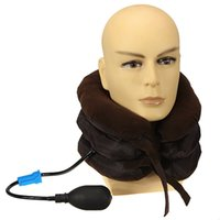 adjustable air pillow - Cervical Neck Air Traction Device Shoulder Headache Relax Soft Brace Support Massager Pillow Relief Adjustable