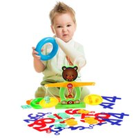 balance beam scale - Balance Beam Scale Measuring w Bear Weights Numbers Preschool Kids Toy MTY3