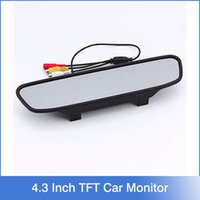 auto records - New Inch TFT Auto LCD Screen Car Monitor Mirror Rearview Backup Camera for Car Reversing Record