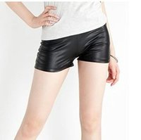 Wholesale New Black Stretch Women Shorts Fashion Summer Faux Leather Shorts For Women Casual Women Clothing
