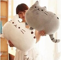 animal pillow manufacturer - Manufacturer direct cookies Kitty pillow cushion for leaning on of plush toy doll with many color and very softly