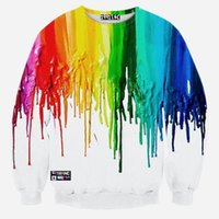 Wholesale style hoodies Women Men clothing space Unicorn print Pullover D Sweatshirts Poland colorful pigment lovers sweat suit coat Spring sweater