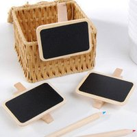 Wholesale MINI CLIP PEG WOODEN SMALL BLACKBOARD CHALKBOARD CHALK WEDDING OFFICE SCHOOL