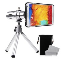 Wholesale Covers Galaxy Zoom - Wholesale-12X Zoom Adjust Camera Telephoto Telescope Optical Lens +Triangle Holder+Cover For Samsung Galaxy NOTE 3 N9000