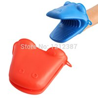 Wholesale Cute Hot Animal Hippo Kitchen Cooking Microwave Oven Mitt Insulated Non slip Glove HB88
