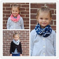 Wholesale New Winter Kids Children Cotton Jersey Knit Quatrefoil Circle Ring Scarf Infinity Scarves for Baby Free Shippping