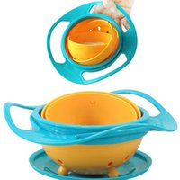 Wholesale Hot Sale PC High Quality Creative Fantastic and Practical UFO Gyroscope Kids Bowl Never spill food Kids Bowl