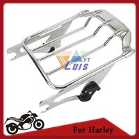 Wholesale Chrome Motorcycle Luggage Rack Carrier Support Detachable Air wing up For Harley Davidson Touring FLHX FLTR up order lt no track