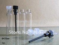 Tester perfume Prix-Livraison gratuite - 1000pcs / lot 1ML mini-parfum flacon d'échantillon, 1cc verre bouteille en verre de testeur avec compte-gouttes, petit verre bouteille de parfum