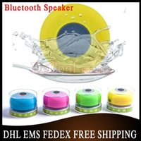 Wholesale 200PCS New Mini Ultra Portable Waterproof Stereo Wireless Bluetooth Speaker Handsfree With Suction Cup