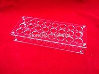 Wholesale pc Acrylic e cig display case electronic cigarette stand shelf holder display rack box for ml e liquid e juice bottle