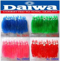 Wholesale 10pcs color pack octopus bait cm blue green pink red squid soft bait lure dry fly Daiwa JAPAN fishing tackle