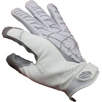 Wholesale white Best high quality STARS R22 Genuine Leather gloves white black S M L XL XXL American Football Gloves slippery rugby gloves