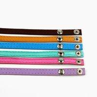achat en gros de bracelet cuir f-2017 Top Vente Mode Nouvelle bande en cuir couleur pour Wrap Bracelet Presell 30 pièces / LOT PU-030A-F