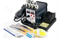Wholesale Welding Tool Set SAIKE D in1 Soldering Station Hot Air Gun and Soldering Iron For SMT REWORK STATION with Free Gift