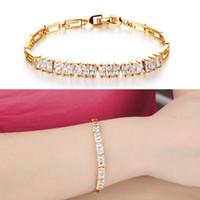 art deco bracelets - Bling Art Deco Style Baguette CZ Bridal Bracelet K GP Yellow Gold Plated