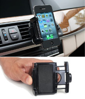 Wholesale Car Air Vent Cell Phone Holder Degree Adjustable Mount For iPhone s s GPS Smartphone Stand Bracket with Retail Package